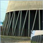 冷却塔空气动力涡流调节装置